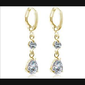 14 kt gold filled zircon earrings